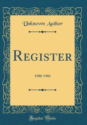 Register by Unknown Author image