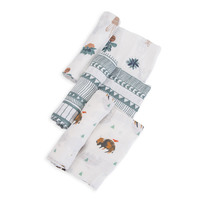 Little Unicorn: Cotton Muslin Swaddle - Bison (3 Pack)