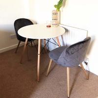 Fraser Country Modern Velvet Dining Chair Set of 2 - Grey