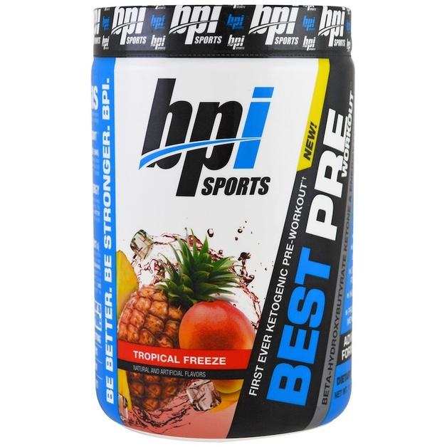 BPI Sports Keto Best Pre-Workout - Tropical Freeze (30 Serve)