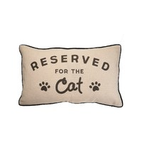 Sass & Belle: Reserved For Cat Decorative Cushion
