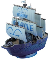 One Piece Grand Ship Collection Navy Warship Model Kit