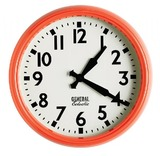 General Eclectic Retro School Clock (Orange)