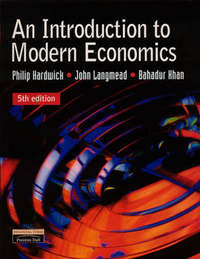 An Introduction to Modern Economics by Philip Hardwick image