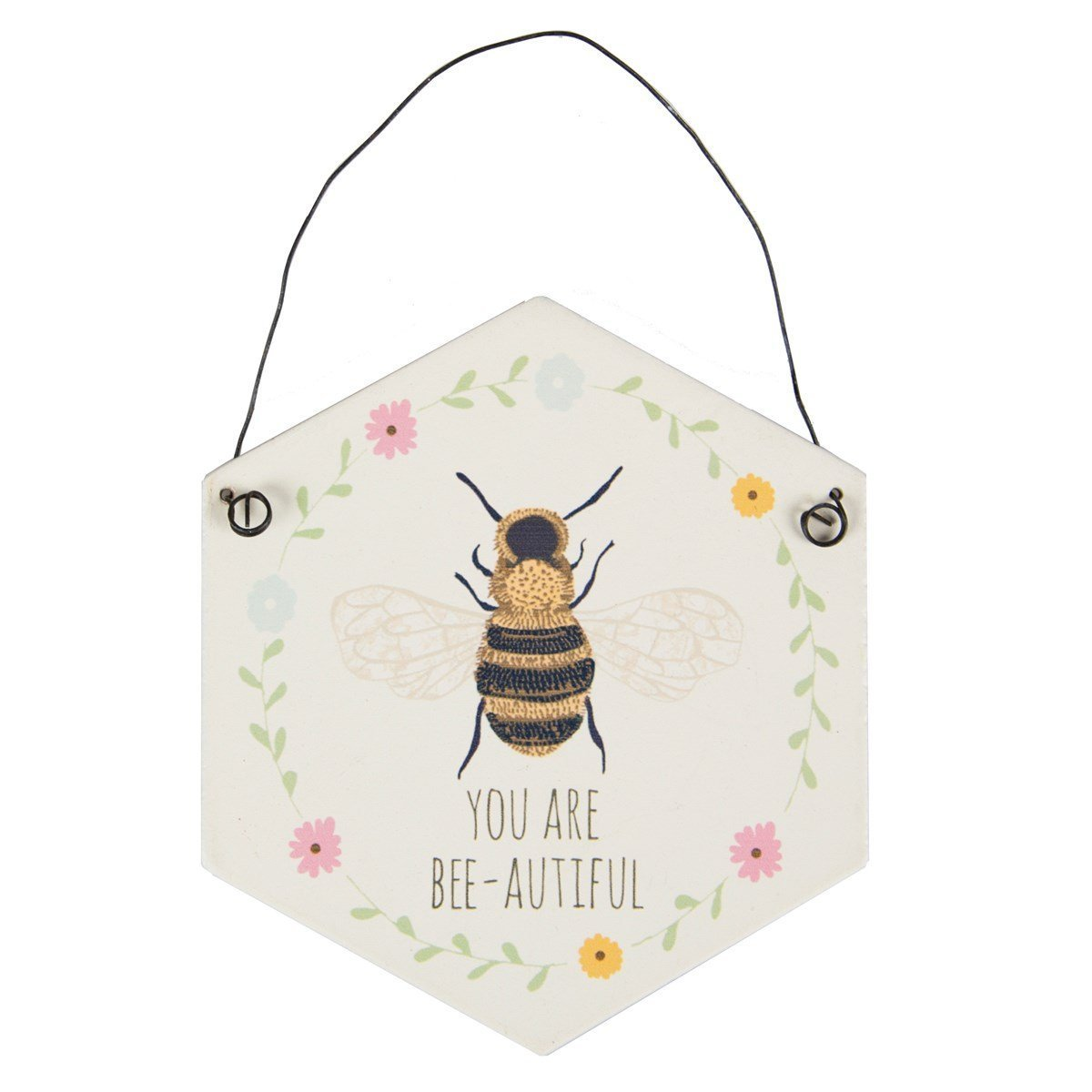 You Are Bee-autiful Hexagon Plaque image