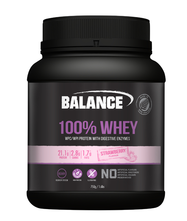 Balance 100% Whey Protein Powder - Strawberry (750g)