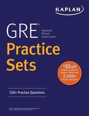 GRE Practice Sets by Kaplan Test Prep image