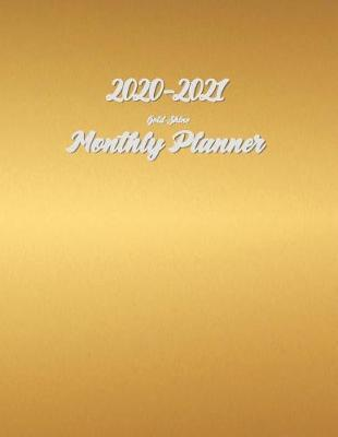 2020-2021 Monthly Planner Gold Shine by Genesis Notebook