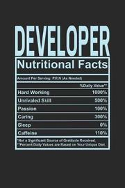 Developer Nutritional Facts by Dennex Publishing