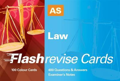 AS Law Flash Revise Cards by Caroline Rowlands image