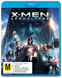 X-Men Apocalypse on Blu-ray, 3D Blu-ray