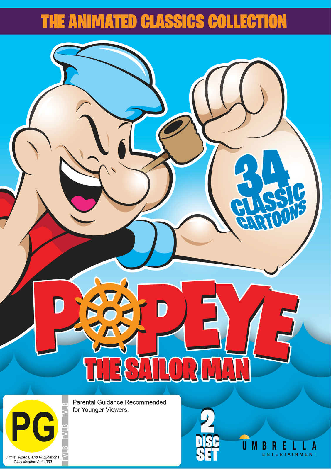 Popeye the Sailor Man: the Animated Classics Collection on DVD image