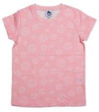 Cheeky Chimp: AOP Print Tee - Dusty Pink (Size 7)