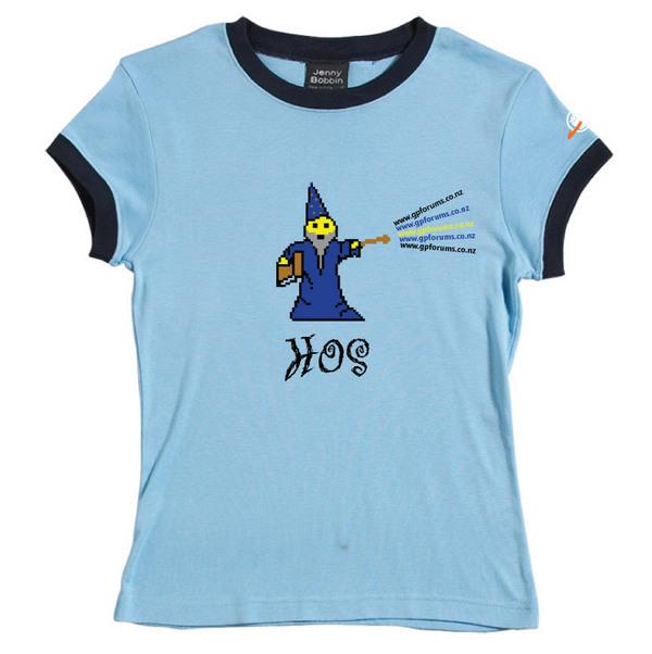 HOS - Female Ringer Tee (Sky Blue) for