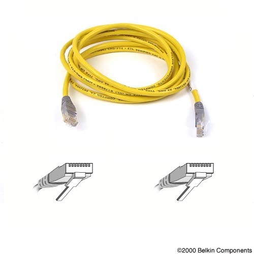 Belkin 3m Yellow CAT5e Snagless Patch Cable