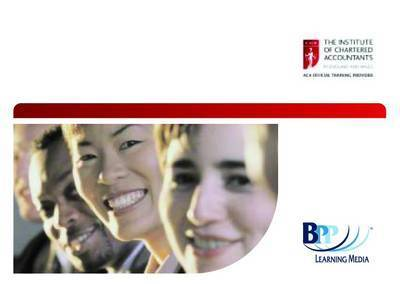 ICAEW - Principles of Taxation: Passcards by BPP Learning Media