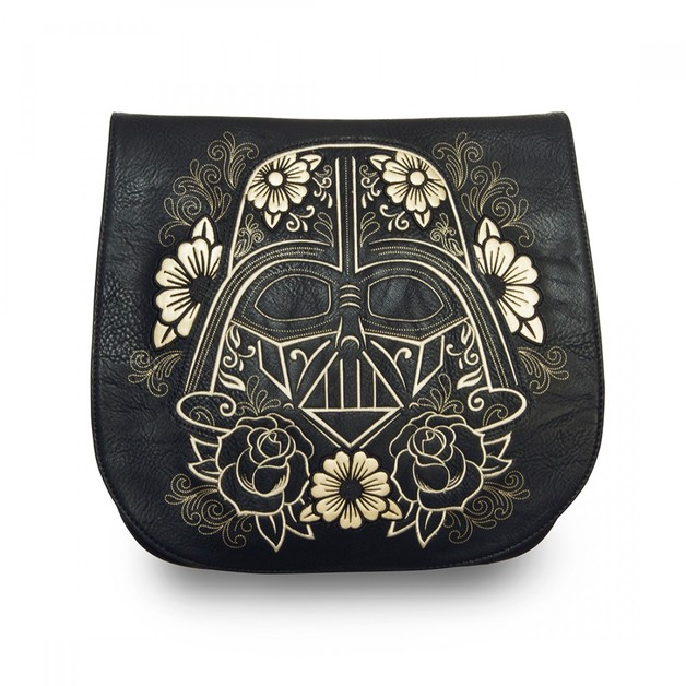 Loungefly Star Wars Darth Vader Sugar Skull Crossbody Saddle Bag