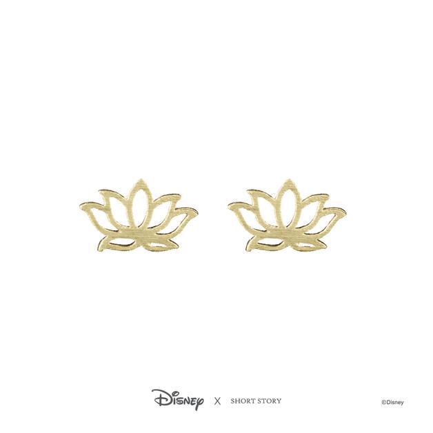 Short Story: Disney Earring Jasmine Lotus - Gold