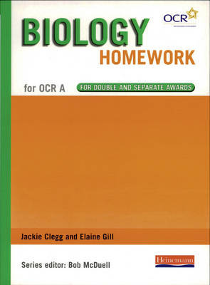 GCSE Science for OCR A Biology Homework Book by Jackie Clegs image