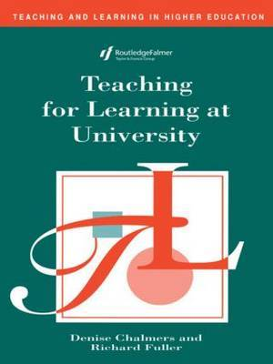 Teaching for Learning at University by Denise Chalmers image