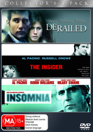 Derailed (2005) / The Insider / Insomnia - Collector's 3-Pack (3 Disc Set) on DVD image