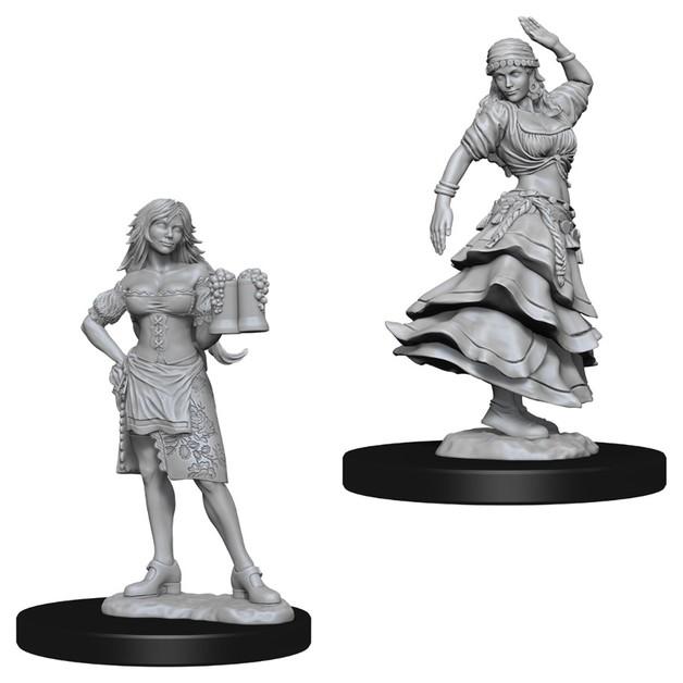 Pathfinder Deep Cuts: Unpainted Miniatures - Bartender/Dancing Girl