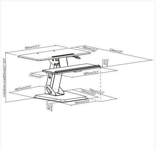 Brateck Gas Spring Sit-Stand Desktop Workstation image