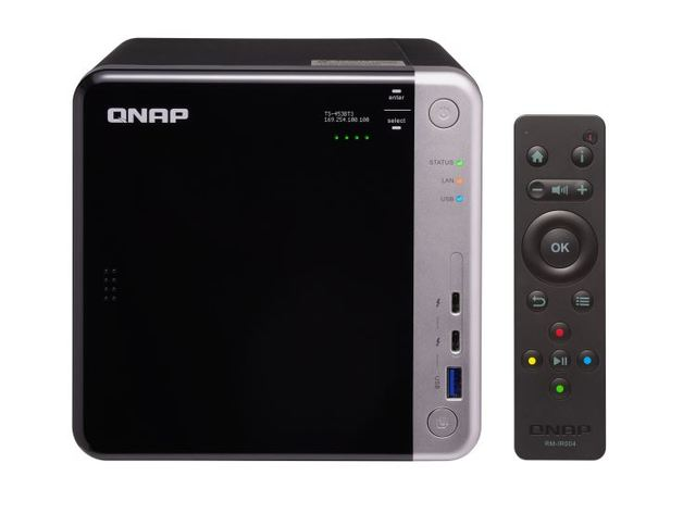 Qnap Ts-453Bt3-8G 4-Bay Nas (No Disk), 10Gbe & Tbolt, 3 W 2X M.2 2280 Sata Ssd Slot,Apollo Lake J3455 1.5-2.3Ghz, 8Gb