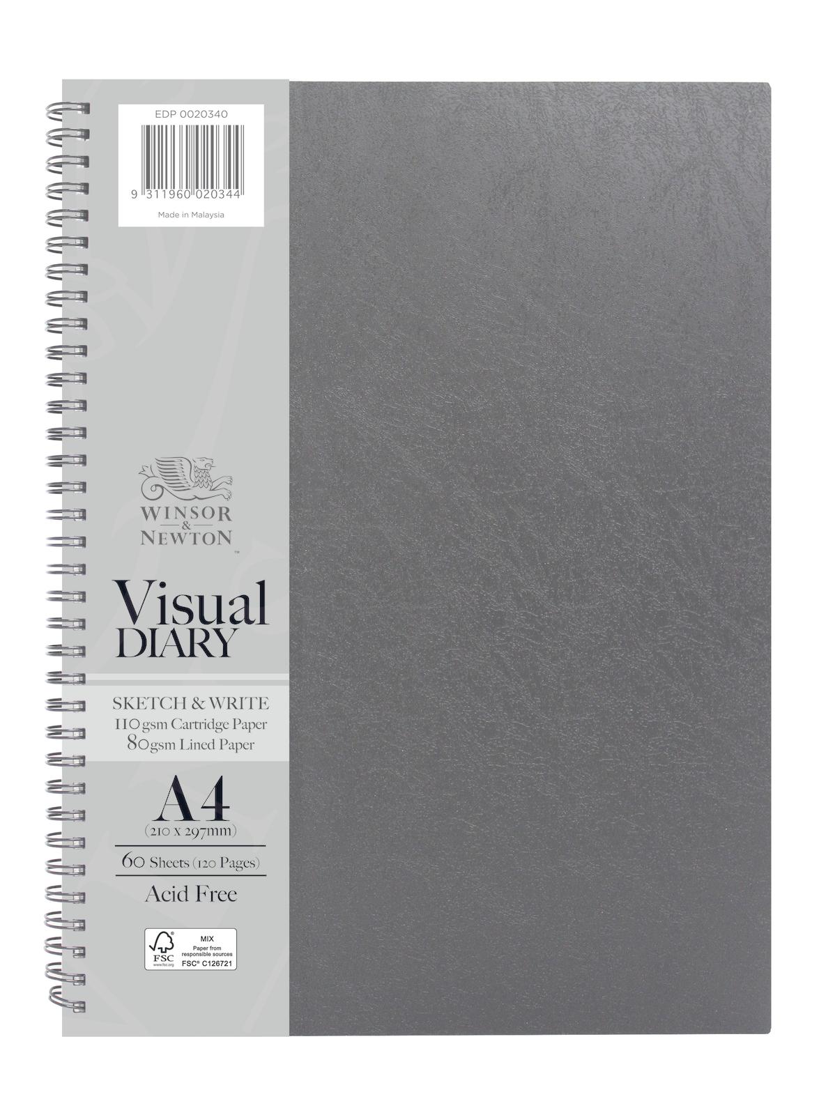 Winsor & Newton: A4 Sketch & Write Diary 110gsm/80gsm FSC Mix Credit image