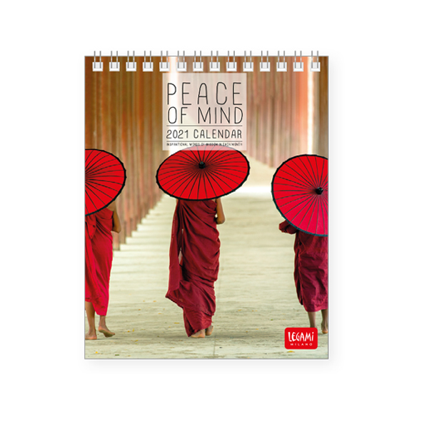 Legami: Peace of Mind 2021 Desk Calendar (12 x 14.5 cm)
