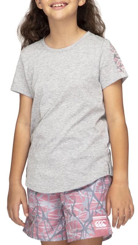 Canterbury: Girls Camo Logo Tee - Classic Marl (Size 8)