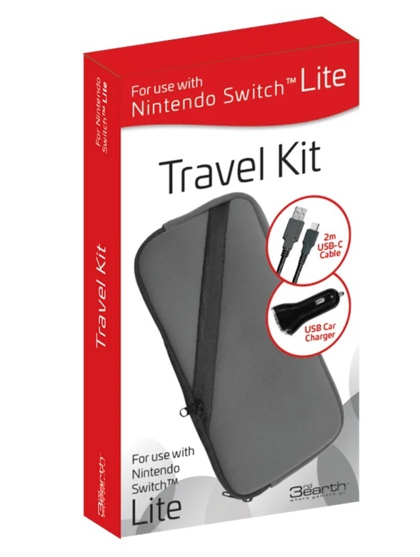 Nintendo Switch Lite Travel Kit - Neoprene Case Grey for Switch