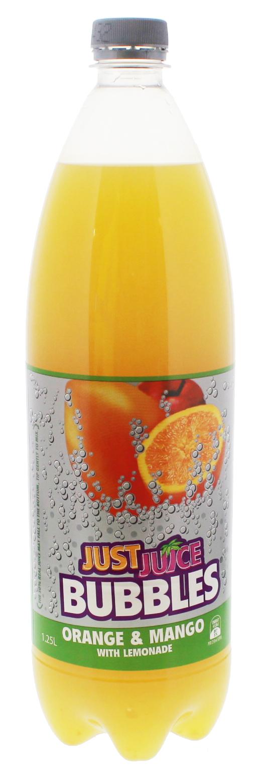 Just Juice Bubbles Orange & Mango 1.25L (8 Pack) image