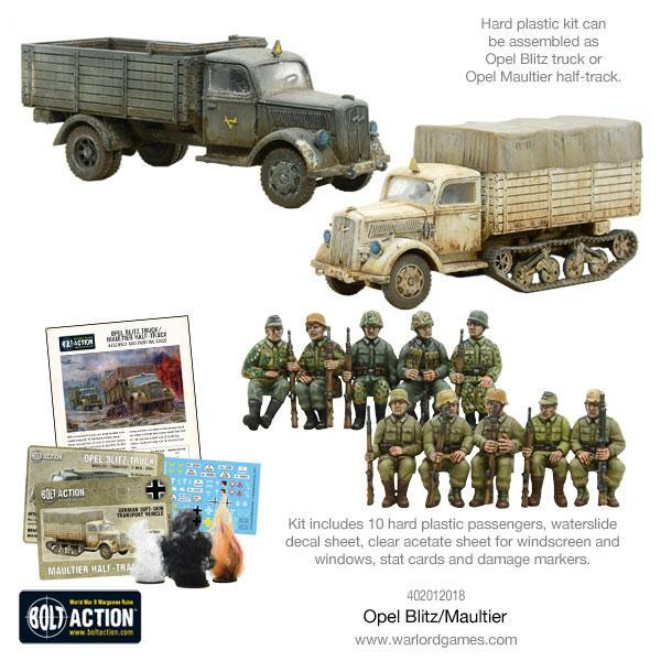 German Army Opel Blitz & Maultier image