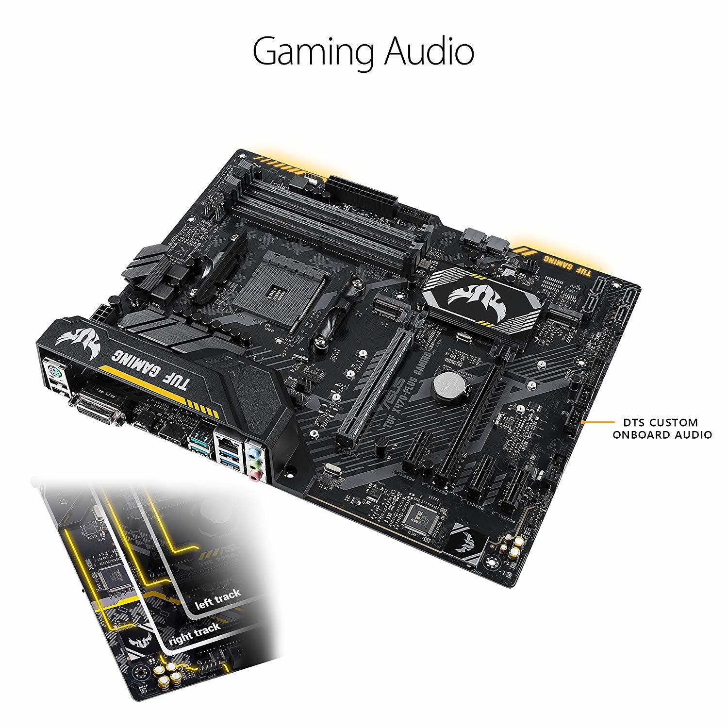 Asus TUF X470-Plus Gaming AMD Ryzen2 AM4 DDR4 Hdmi Dvi M.2 Atx Motherboard image