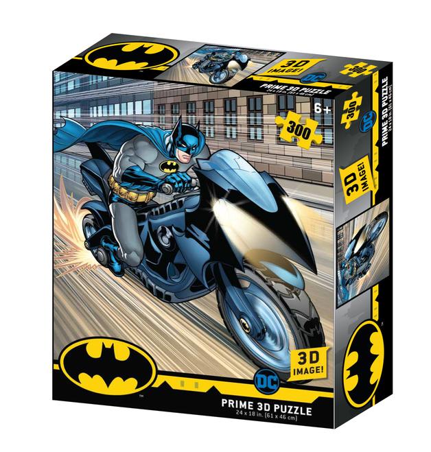 Super 3D: 300pc DC Comic Puzzle - Batman Batcycle