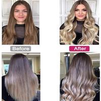 Wireless Auto-Rotating Ceramic Hair Curler - Grey/Purple