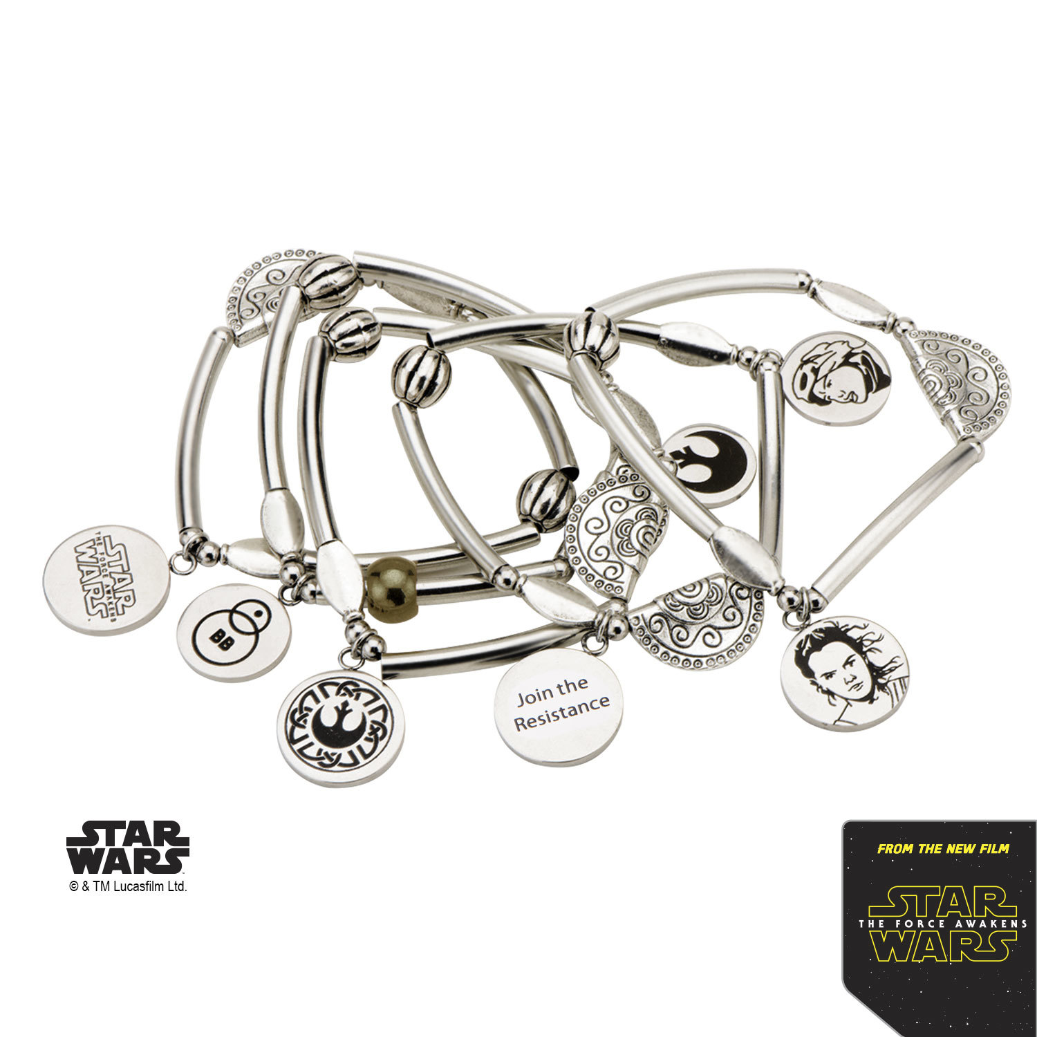 Star Wars Stainless Steel Rey Stretchable Bracelet image