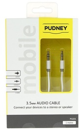 Pudney: 3.5mm Stereo Plug To 3.5mm Stereo Plug 1 Metre - White