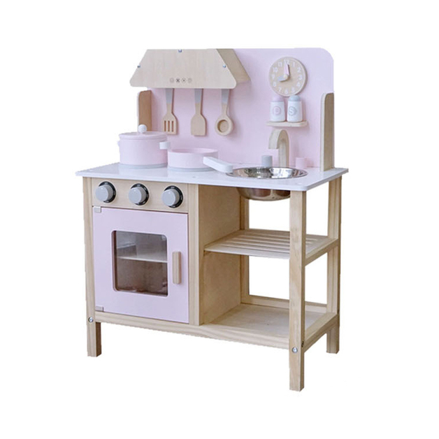 Wooden Pink Role Play Kitchen