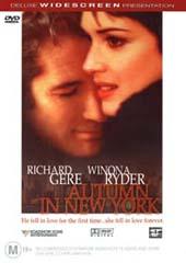 Autumn In New York on DVD