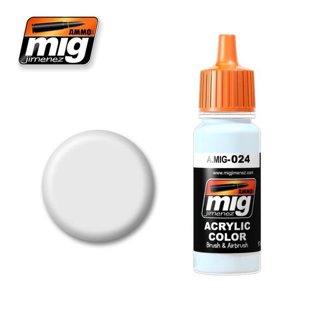 Ammo of Mig Jimenez Acrylic Paint - Washable White Camo (17ml)