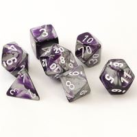 Chessex Gemini Polyhedral Dice Set Purple-Steel/White