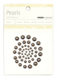 Kaisercraft: Self Adhesive Pearls - Pewter
