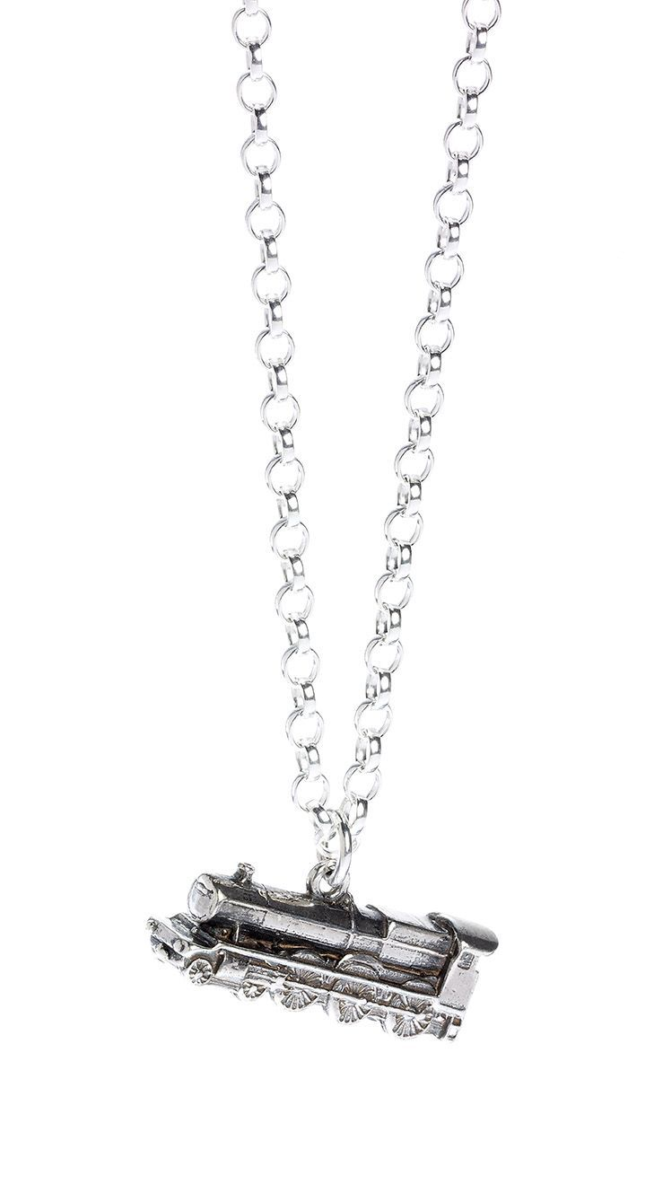 The Carat Shop: Official Harry Potter Hogwarts Express Train Necklace Sterling Silver image