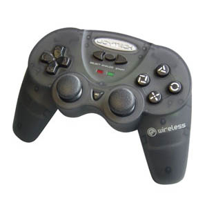 Joytech Wireless Analog Controller - Black for PlayStation 2 image