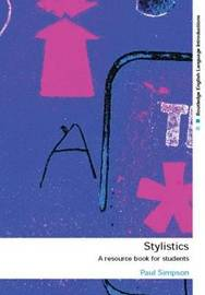 Stylistics: A Resource Book for Students by Paul Simpson image