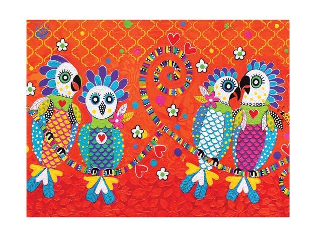 Maxwell & Williams: Love Hearts Tea Towel - Fan Club (50x70cm)