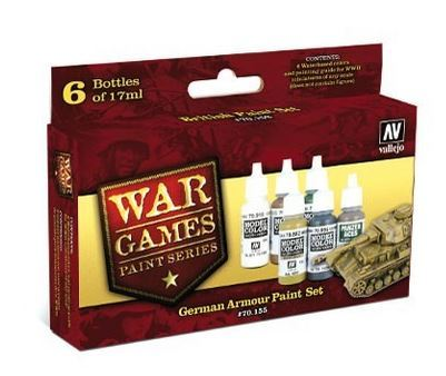 Vallejo Wargames German Armour Paint Set image