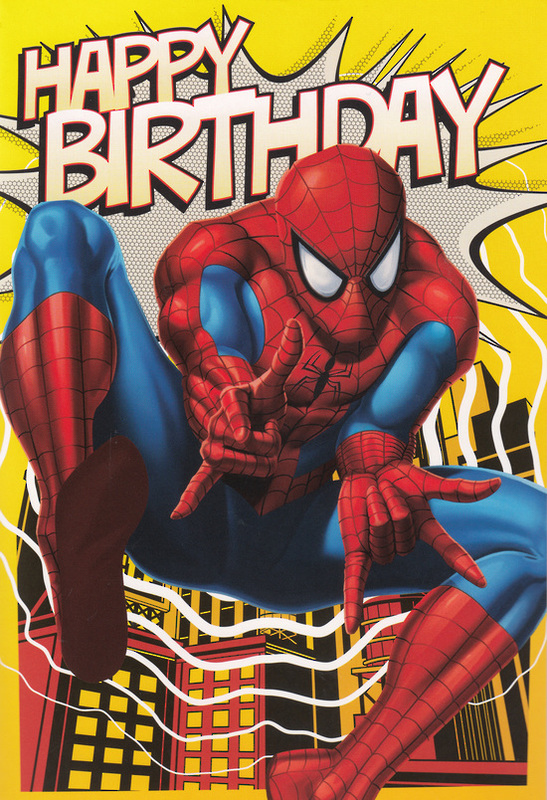 Terrific Buy Marvel Spiderman Interactive Birthday Card At Mighty Personalised Birthday Cards Veneteletsinfo